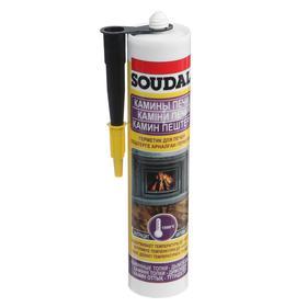 Герметик для печей Soudal, чёрный - калофер, 280 мл
