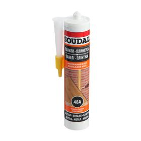 Клей Soudal 48А, каучуковый, для стеновых панелей, 280 мл