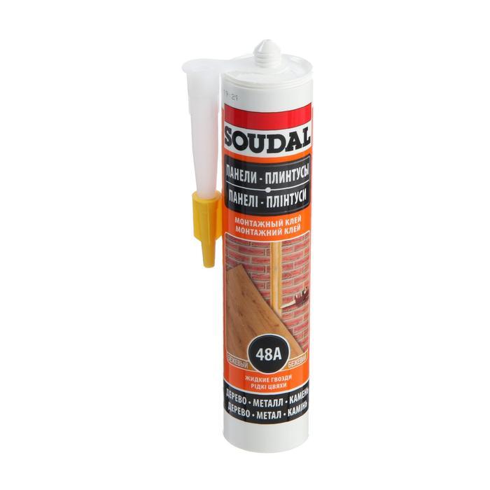 Клей Soudal 48А, каучуковый, для стеновых панелей, 300 мл