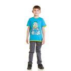 """Футболка для мальчика """"Миньоны"""", рост 152 см (80), цвет голубой ZB 02158"""