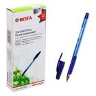 Ручка шариковая Beifa с резиновым держателем, стержень синий, 0.7 мм
