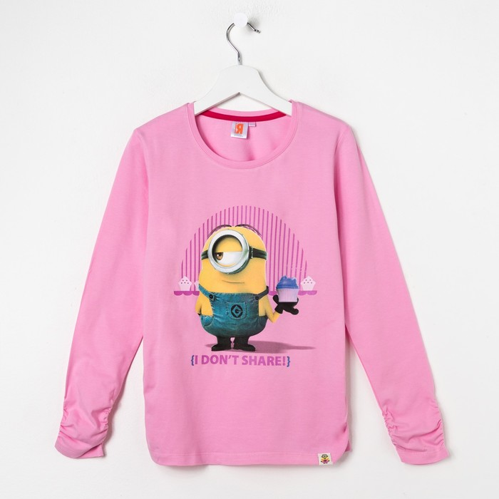 Джемпер для девочки «Миньоны» цвет розовый, рост 110 см
