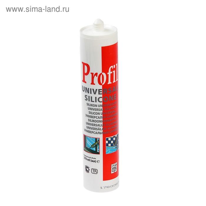 Герметик Soudal Profil, силиконовый, универсальный, белый, 280 мл
