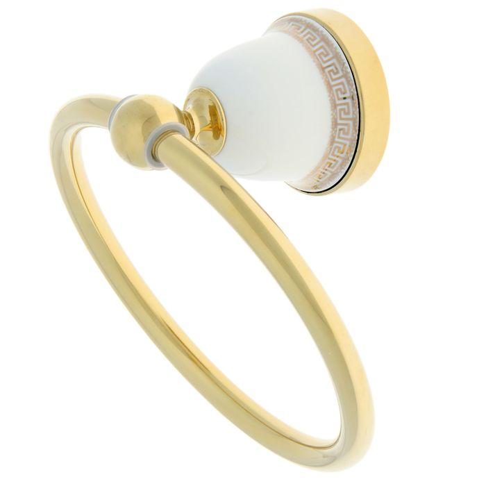 Держатель для полотенца Ledeme L3604G, одинарный, круг, цвет золотой