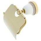 Держатель для туалетной бумаги Ledeme L3603G, с крышкой, цвет золотой