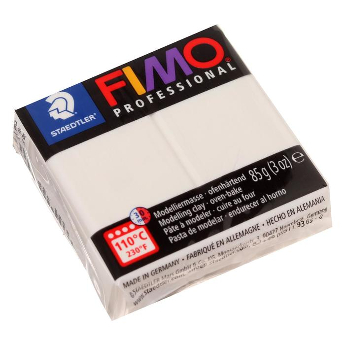 Пластика - полимерная глина 85г FIMO professional, белый