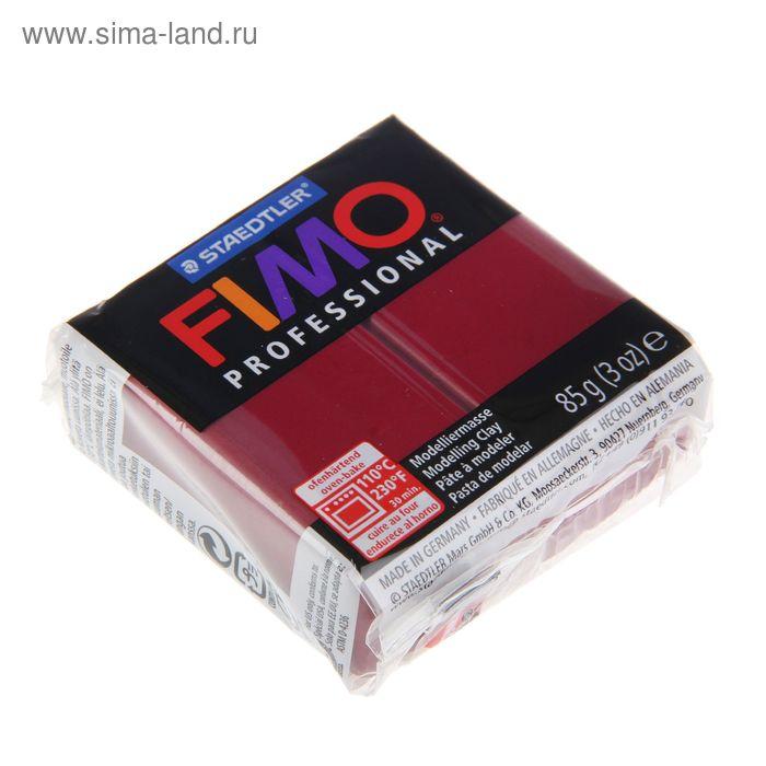 Пластика - полимерная глина 85г FIMO professional, бордо
