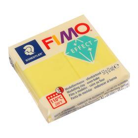 Пластика - полимерная глина FIMO effect, 57 г, полупрозрачный жёлтый