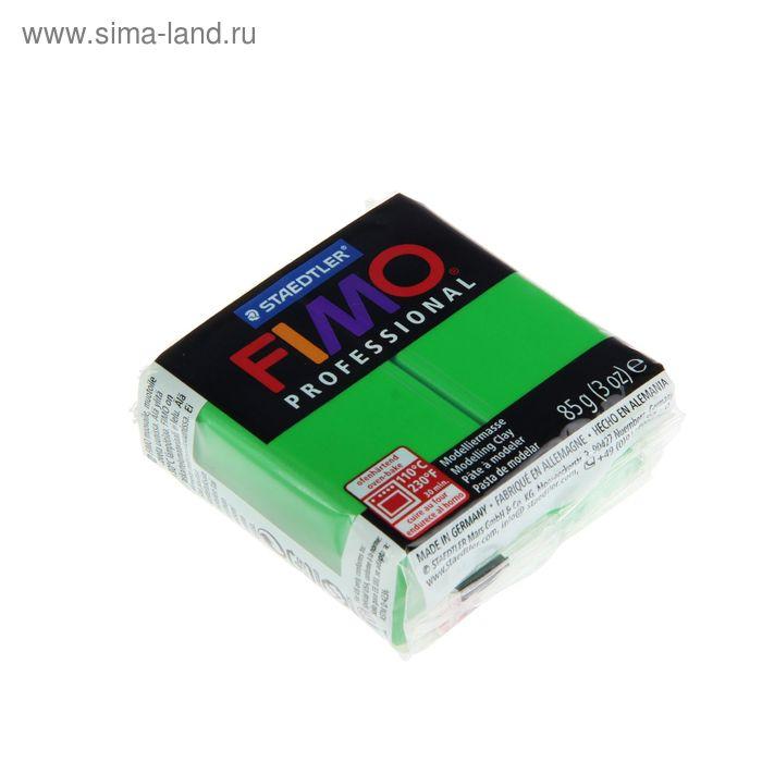Пластика - полимерная глина 85г FIMO professional, ярко-зеленый