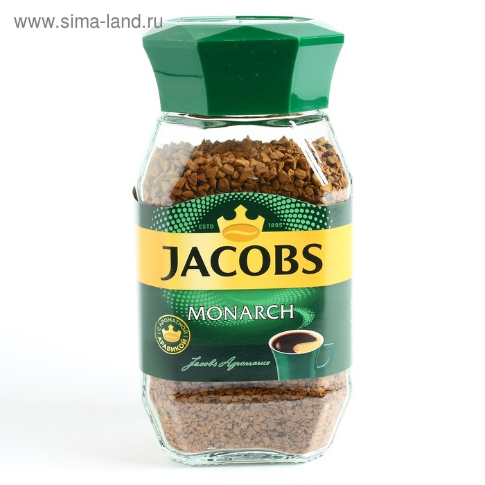 Кофе Jacobs Monarch, натуральный растворимый, сублимированный, 95 г