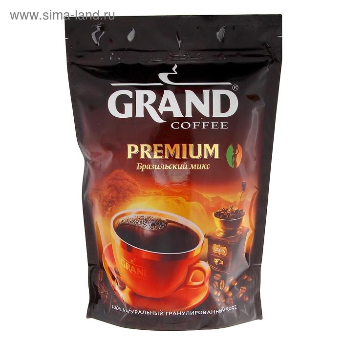 Кофе Grand Premium, натуральный растворимый, гранулированный, 200 г