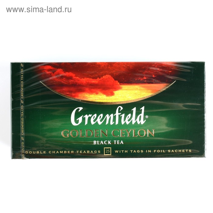 Чай черный Greenfield Golden Ceylon, 25 пакетиков*2 г