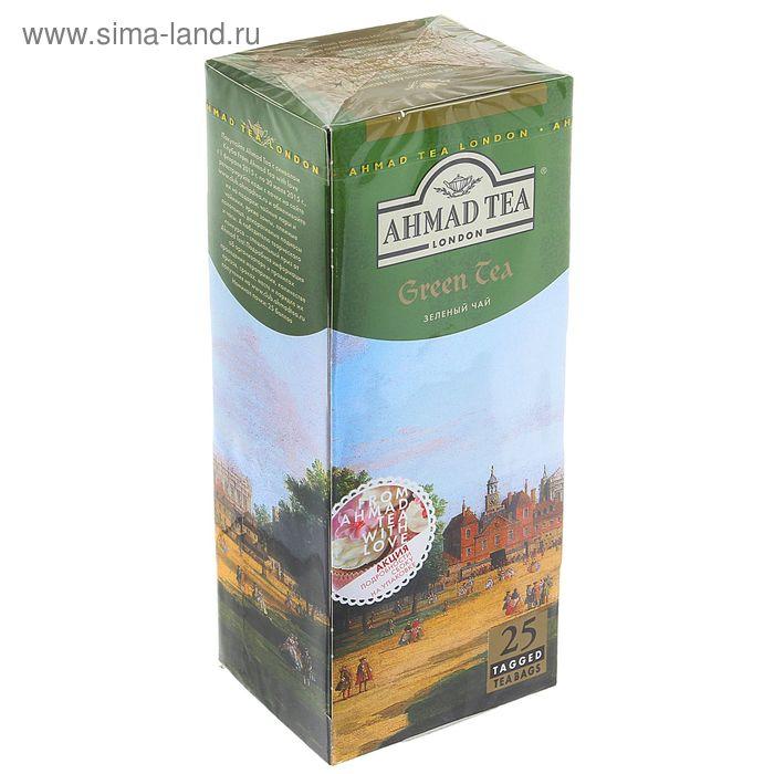 Чай зеленый Ahmad Green, 25 пакетиков*2 г