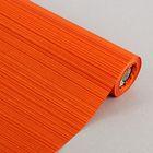 "Бумага упаковочная крафт ""Полоски люкс"", оранжево-красная, 0.5 х 10 м"