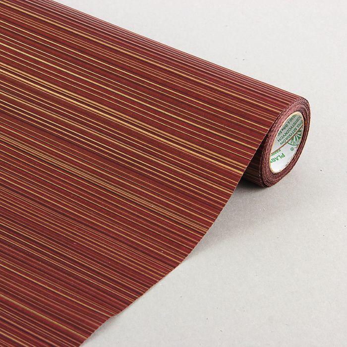 "Бумага упаковочная крафт ""Полоски люкс"",  бордово-золотая, 0.5 х 10 м"