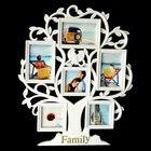 "Фоторамка ""Семейное гнездо"" на 6 фото 13х13 см, 10х15 см, 10х10 см, белая"
