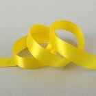 Лента атласная, 25мм, 35м, цвет лимонный
