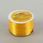 Лента атласная, 3мм,100м, цвет ярко-желтый