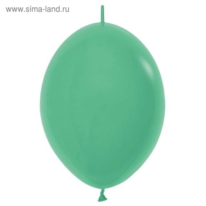 """Шар латексный 12"""", линколун, пастель, набор 100 шт., цвет зелёный"""