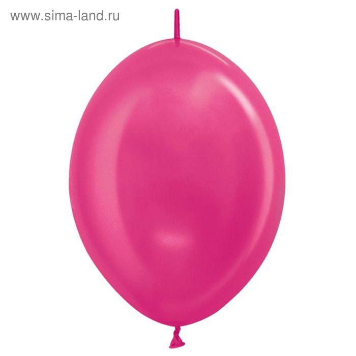 """Шар латексный 12"""", линколун, металл, набор 100 шт., цвет тёмно-розовый"""