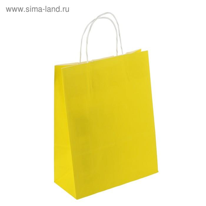 """Пакет крафт """"Радуга"""", лимонный, 25 х 11 х 32 см"""