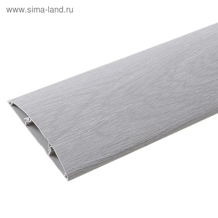 """Наличник ПВХ с кабель-каналом """"Идеал"""" дуб серый 70*12*2200 мм"""