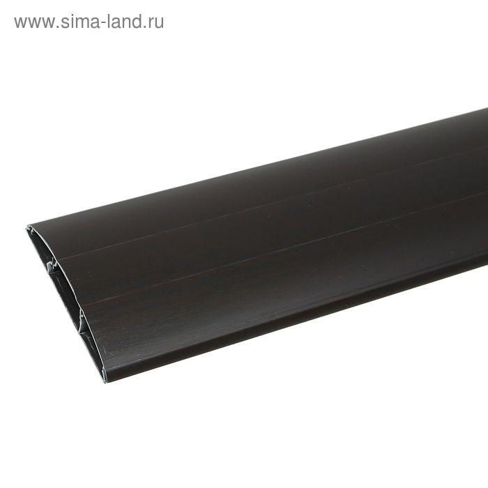 """Наличник ПВХ с кабель-каналом """"Идеал"""" венге черный  70*12*2200 мм"""
