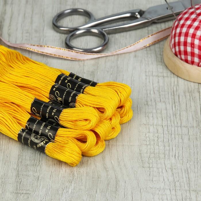 Мулине №0305,10±1м, цвет горчично-жёлтый