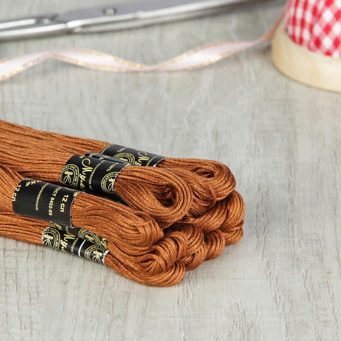 Мулине №6206,10±1м, цвет коричневый