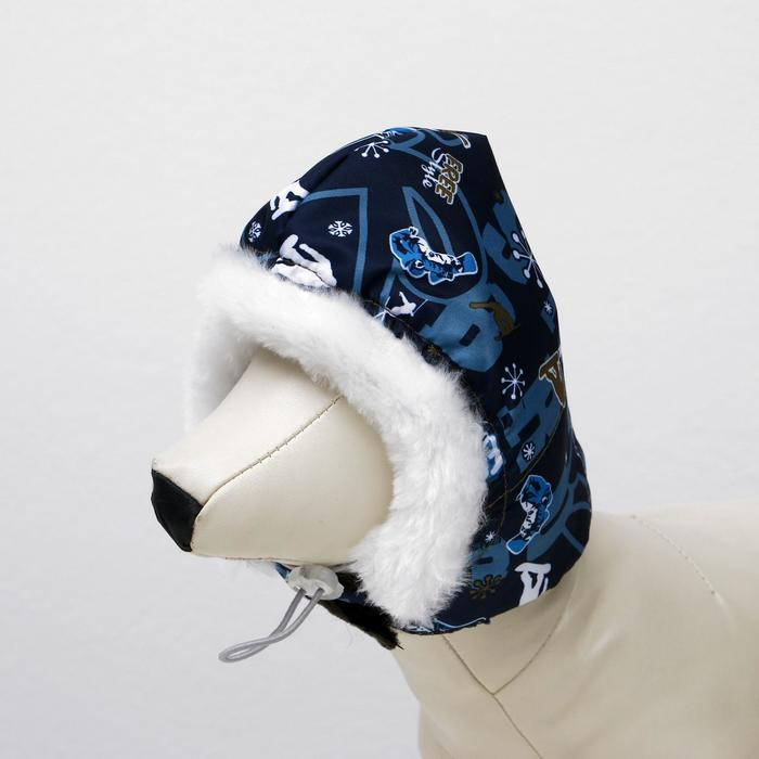 "Шапочка зимняя ""Эскимос"", M-L, плащевка-мех, объем морды 29 см, длина шапки 23 см  микс"