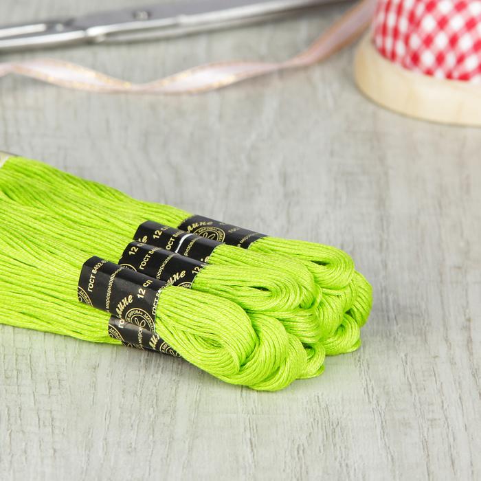 Мулине №4706,10±1м, цвет ярко-зелёный