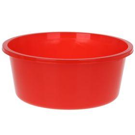 Таз круглый «Кливия», 20 л, цвет красный