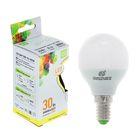 Лампа светодиодная ASD G45, 3.5 Вт, Е14, 160-260 В, 320 Лм, 3000 К, теплый белый