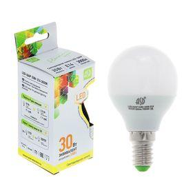 """Лампа светодиодная ASD, Е14, 3.5 Вт, 160-260 В, 3000 К, """"шар"""""""