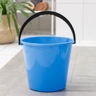Ведро «Примула», 10 л, цвет голубой,