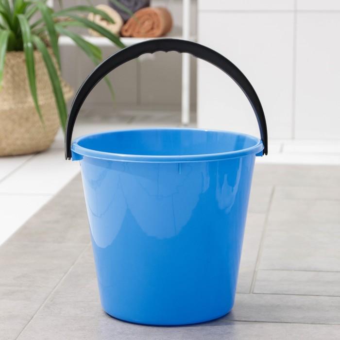 Ведро «Примула», 10 л, цвет голубой