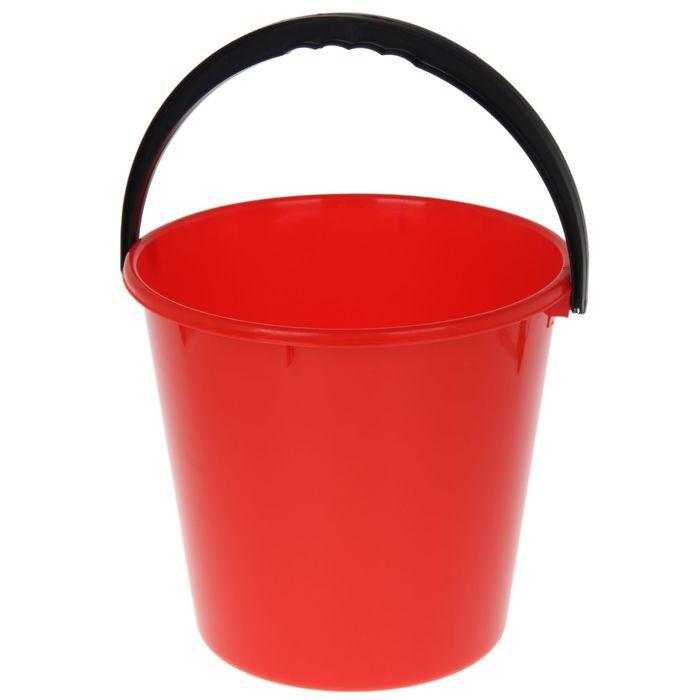 Ведро «Примула», 10 л, цвет красный