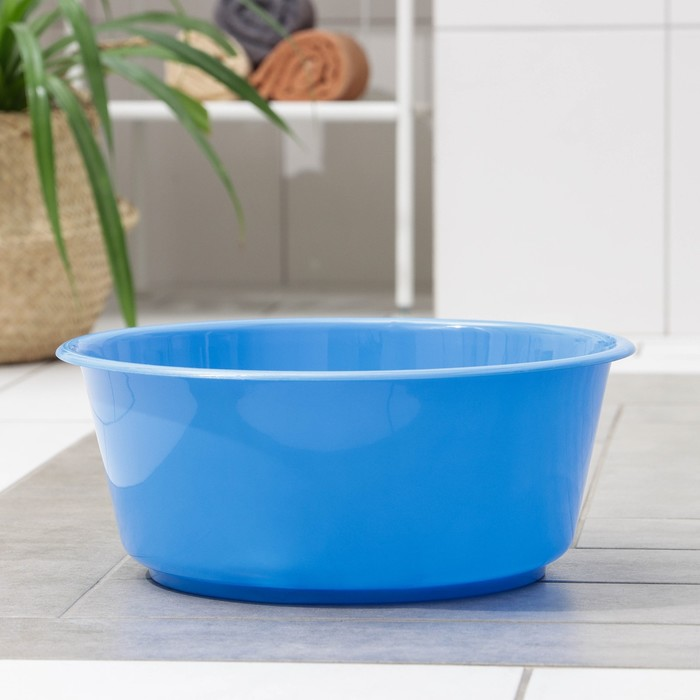 "Таз 10 л ""Кливия"", цвет голубой"