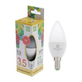 Лампа светодиодная ASD, Е14, 3.5 Вт, 160-260 В, 3000 К, 'свеча' Ош