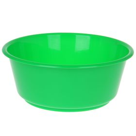 Таз круглый «Кливия», 10 л, цвет зелёный