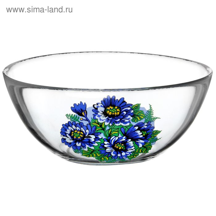 "Салатник 250 мл ""Синяя хризантема"", d=13 см"