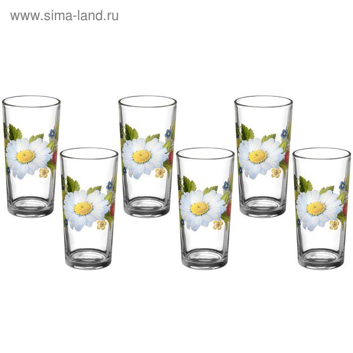 """Набор стаканов 230 мл """"Лесная поляна"""", высокие, 6 шт"""