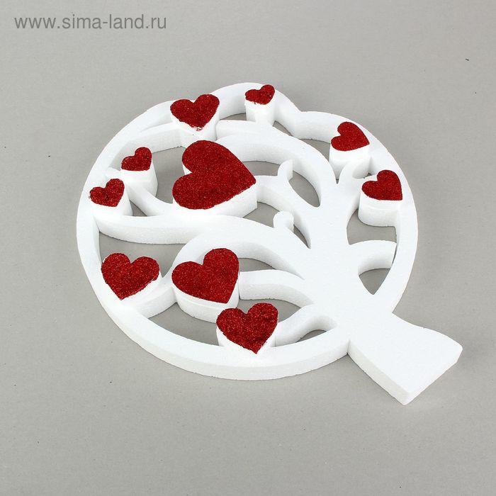 Форма объёмная из пенопласта «Дерево любви», 30 × 37 см