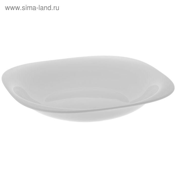 Тарелка глубокая 21 см Carine white