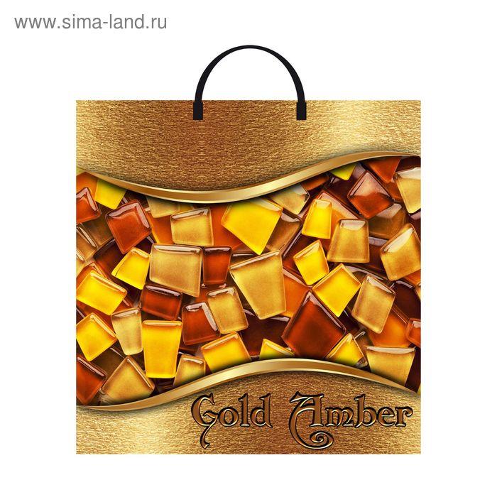"""Пакет """"Золотой янтарь"""", полиэтиленовый с пластиковой ручкой, 35 х 36 см, 85 мкм"""