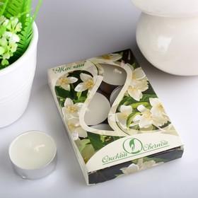 Набор чайных свечей ароматизированных «Жасмин», 12 г, 6 штук
