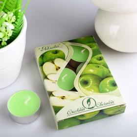 Набор чайных свечей ароматизированных «Яблоко», 12 г, 6 штук