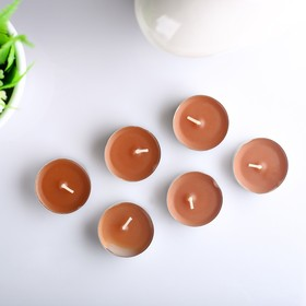 Набор чайных свечей ароматизированных «Эспрессо», 12 г, 6 штук - фото 1706502