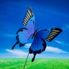 "Декоративный штекер ""Бабочка махаон с блёстками"" микс"