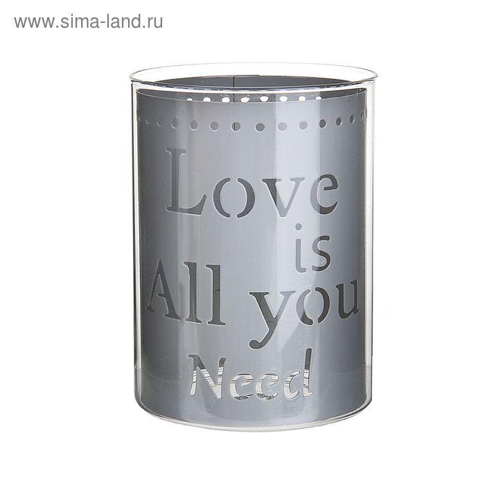 """Подсвечник """"Love is all you need"""", цвета МИКС"""